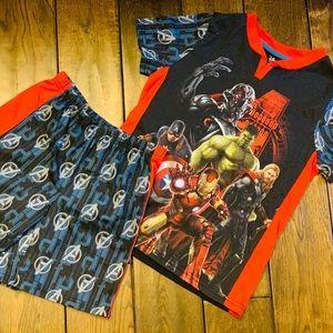 Disney Store 2-pc Marvel Short Pajama Set